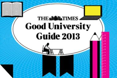 Times good university guide 2012.