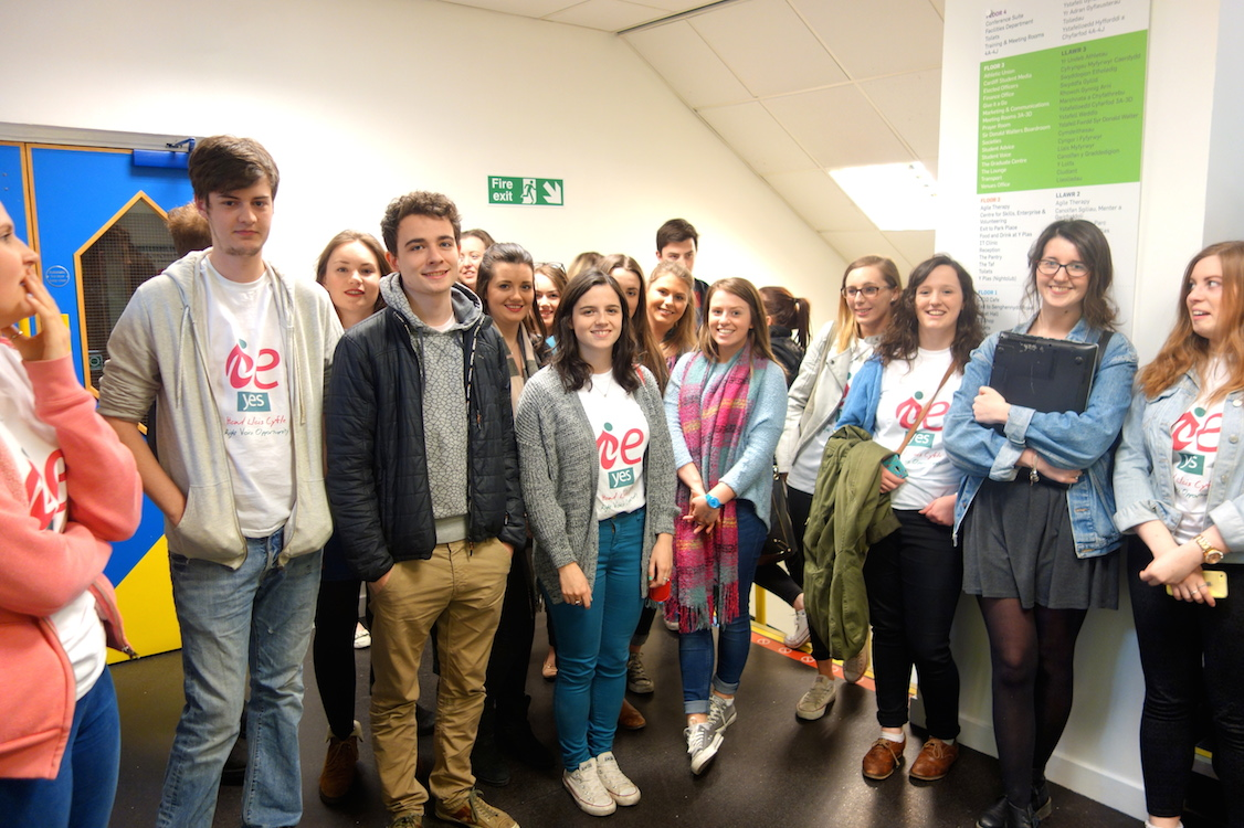 """Members of the """"Yes"""" campaign before the referendum results"""