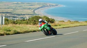 Rees at the 2014 Manx Grand Prix
