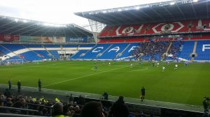Magic of the FA Cup? Thousands of empty seats at the Cardiff City Stadium.