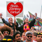 "Fans chant ""Oh Jeremy Corbyn"" at Glastonbury 2017"