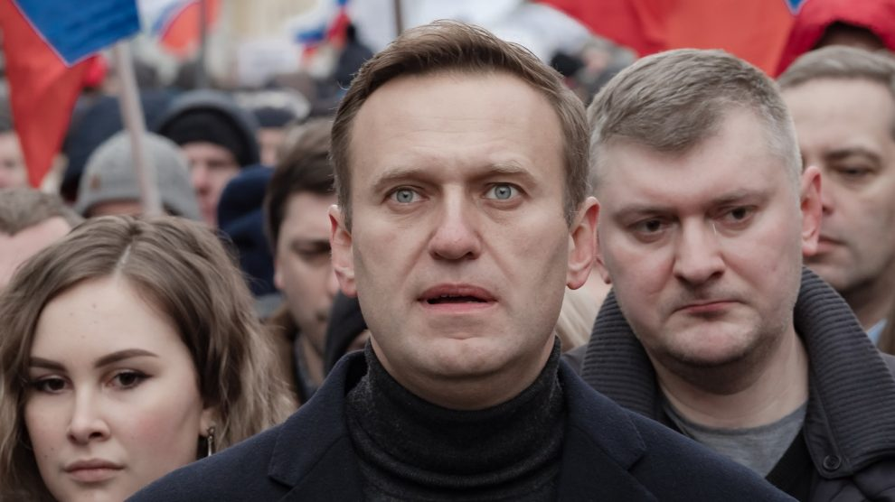 Victim of the poisoning, Alexei Navalny; a critic of Putin.