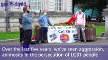 LGBT+ Polish demonstrations in Cardiff