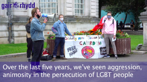 LGBT+ Polish demonstrations in Cardiff