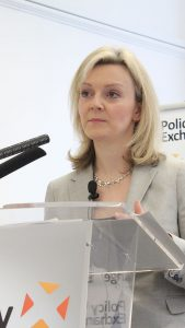 Liz Truss, who has signed a new free trade agreement with Japan.