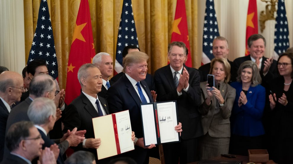 Despite their recent trade deal, could this be the beginning of a new Cold War between the US & China?