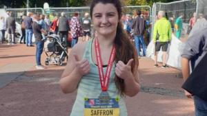 Saffron Corbyn has previously run marathons in her free time