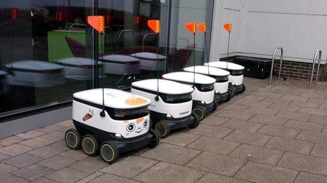 Delivery robots in Milton Keynes