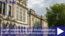What is Cardiff University doing to ensure student's safety
