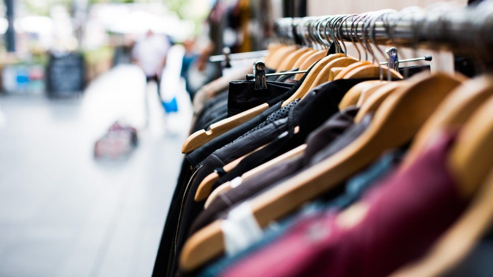 sustainable clothes on rack