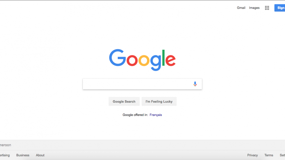 google search engine homepage