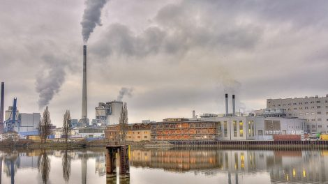 town showing high pollution levels