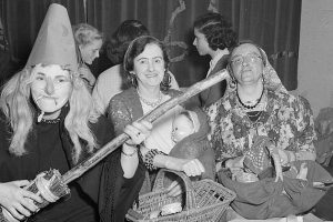 Women celebrating at a Halloween party
