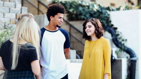Socially distanced socialising has become almost essential for new students.
