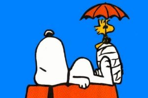 Snoopy, the subject of the sculptures.