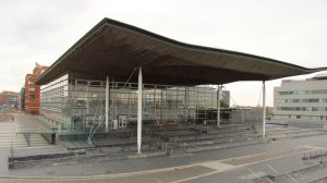 The Senedd, where a row over who is the leader of the Abolish the Welsh Assembly Party is unfolding.