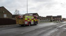 The tyre fire received response from 12 fire engines.