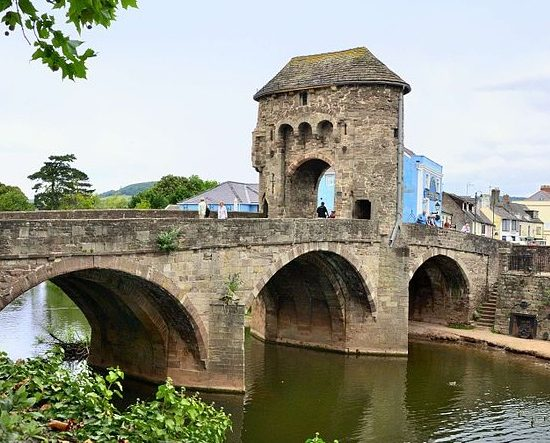 Monnow Bridge in Monmouth, where Nick Ramsay is the incumbent Member of the Senedd.