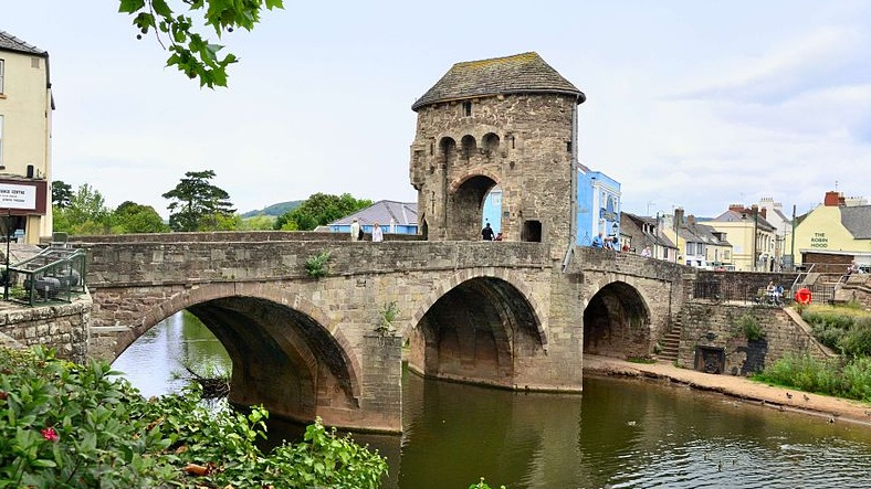 Monnow Bridge in Monmouth, where Nick Ramsay is the incumbent Member of the Senedd.
