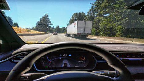 Tesla self-driving car
