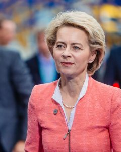Ursula von der Leyen, the Head of the European Commission, who is in charge of the EU vaccine roll-out.