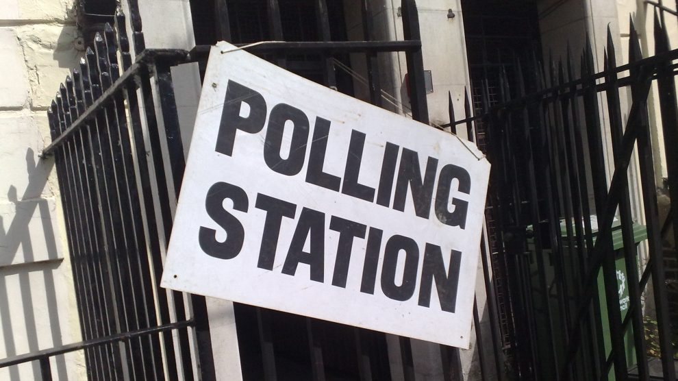 A polling station: there have been calls for more support as under 18s vote for first time