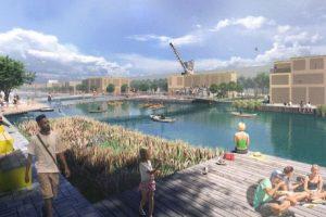 Artist impression of floating village