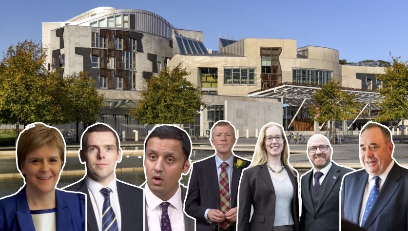 The seven candidates who are all hoping their party will lead the next Scottish Parliament.