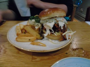 BBQ pulled pork sandwich at 29 Park Place