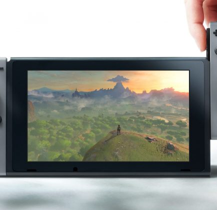 A shot of LoZ: Breath of the Wild on the Nintendo Switch.