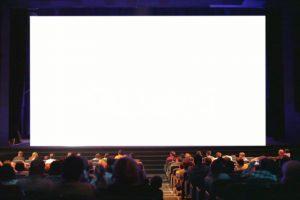 Movie theatre cinema white screen