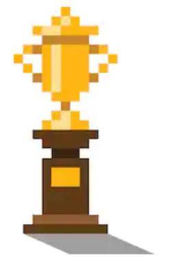 Trophy pixel art cinema extra